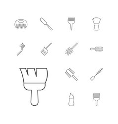 13 brush icons vector