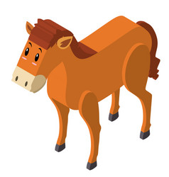 3d design for brown horse vector image