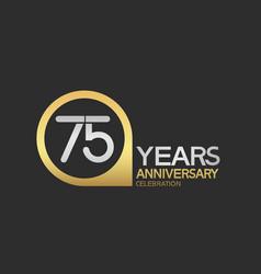 75 years anniversary celebration simple design vector