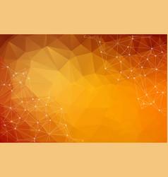 abstract polygonal dark orange background vector image