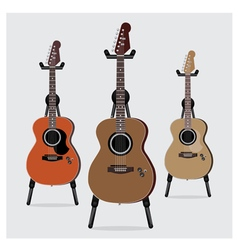 Acoustic Electric Guitar set vector image