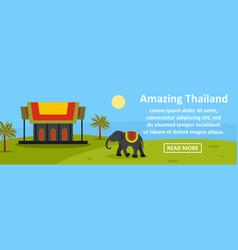 Amazing thailand banner horizontal concept vector