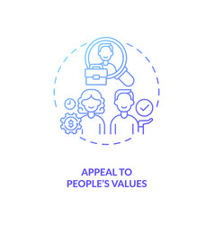 Appeal to values people concept icon vector