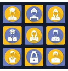Avatar icons set vector