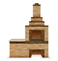 barbecue oven built of bricks vector image