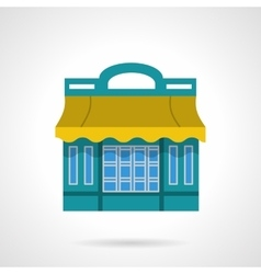 Cafeteria flat color design icon vector image