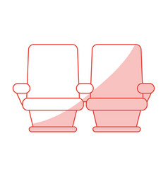 Cinema seats design vector
