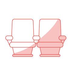 cinema seats design vector image