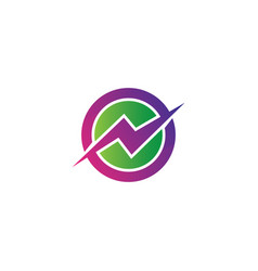 circle flazz electric logo vector image