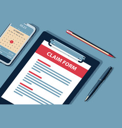 Claim concept with clipboard halftone vector