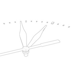 Clock face perspective view vector