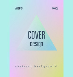 Cover fluid with triangle shapes vector
