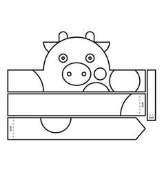 cow coloring headband vector image