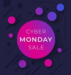 Cyber monday sale banner design vector