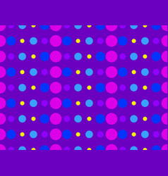 Dotted pop art seamless pattern in 1960s style vector