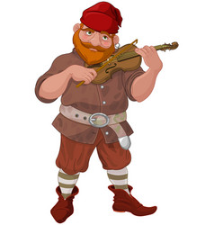 dwarf playing violin vector image