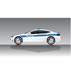 Electric police car vector