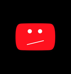 Error red icon this video is not available vector