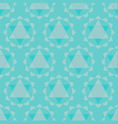 Ethnic chakras geometric seamless pattern vector