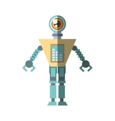 futuristic robot circuit electrical shadow vector image