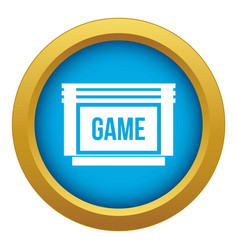 Game cartridge icon blue isolated vector