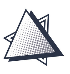 Geometric triangle cartoon vector