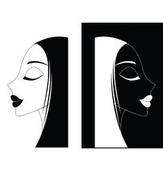 Girl or Women ying-yang vector