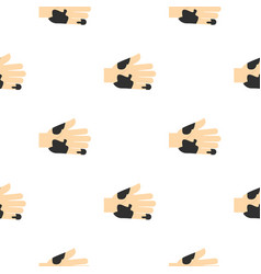 Hand with dirty stains pattern seamless vector