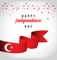 Happy turkey independent day template design vector