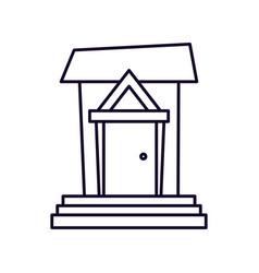 house facade architecture cartoon icon vector image