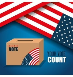 Icon voting box election presidential graphic vector
