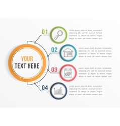 Infographic Template with Four Options vector image vector image