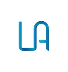 Initial la letter business logo design template vector
