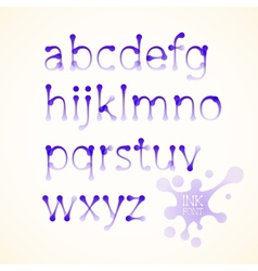 Ink lowercase alphabet vector