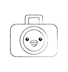 kawaii graphic design camera studio cartoon vector image