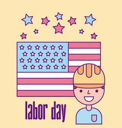 Labor day job vector