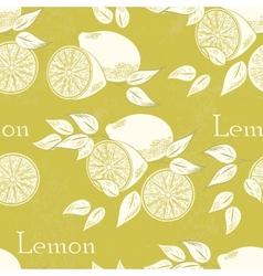 Lemon seamless vector