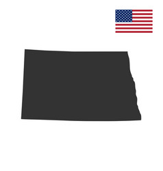 map of the us state of north dakota vector image
