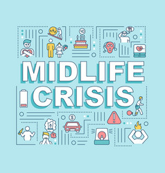 Midlife crisis word concepts banner vector