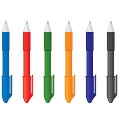 multicolor pens vector image