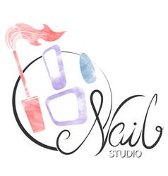 Nail manicure care symbol vector