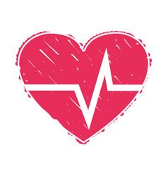 Nice heartbeat to cardiac rhythm vector