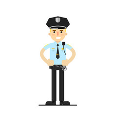 Police officer in uniform vector