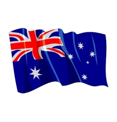 Political waving flag of australia vector