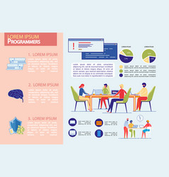 programmers professional team infographic set vector image