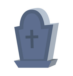 Rip stone cemetery with cross style vector