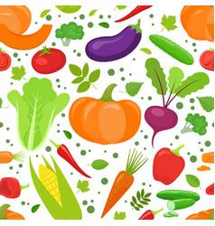 Seamless vegetable pattern vector