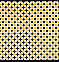 seamless yellow black rhombus background vector image