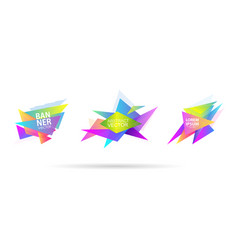 set abstract graphic triangle shape template vector image