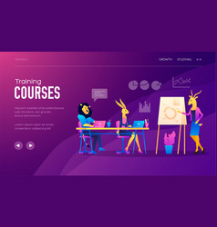set of distance education consulting vector image